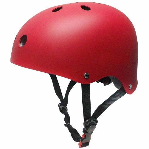 SKL Kids Scooter Helmet Skateboard Helmet for Toddler (V2.0 Red, 45-51cm)
