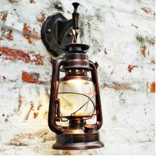 Vintage Retro Thrift Wall Lamp Lantern Mount Sconce European Lights Home Deco Bedside Lamp