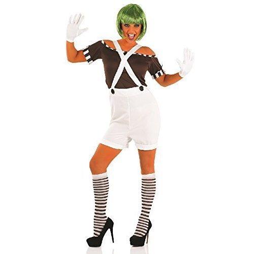 Wig Umpa Lumpa Factory Worker Fancy Dress Costume Mens Adult Oompa Loompa