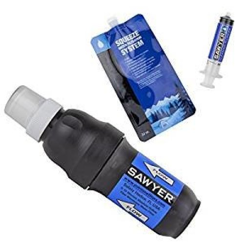 Sawyer SP129 Point One Squeeze Water Filter System With One Pouch And Cleaning Syringe