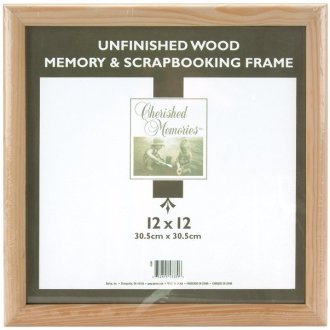 """Darice Wooden Memory Frame 12""""X12""""-Unfinished"""