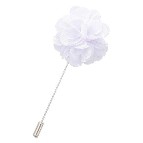 White Plain Satin Lapel Pin