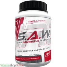 S.A.W. POWDER 400g MUSCLE, STRENGTH SUPER ANABOLIC WORKOUT SAW TREC NUTRITION FREE P&P
