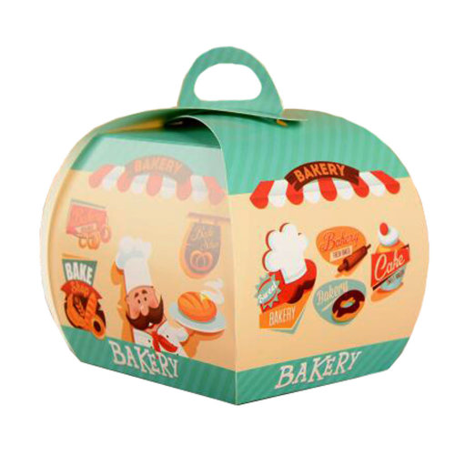 100PCS Cute Boxes With Handle For Pack Candies,Cake,Other Gift,in Party,Birthdays,and other Events,W