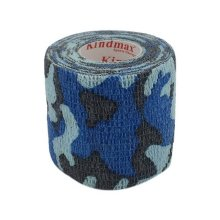 3 Rolls 2 Inches X 5 Yards Woven Elastic Adhesive Bandages For Sports, Blue Camo