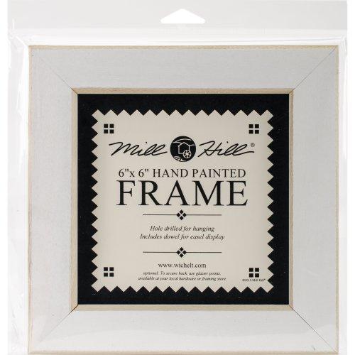 "Wooden Frame 6""X6""-Antique White"