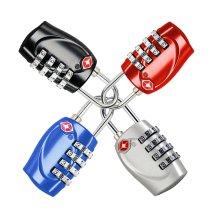 4pk Trixes Combination Padlocks - Multicoloured | 4 TSA Luggage Locks