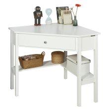 SoBuy® FWT31-W, Corner Desk, Triangle Table Desk, Computer Desk Workstation