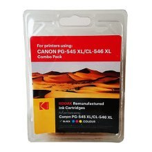 Kodak Remanufactured Canon Black (PG-545XL) & Colour (PG-546XL) Inkjet Ink Combo Pack, 33.5ml