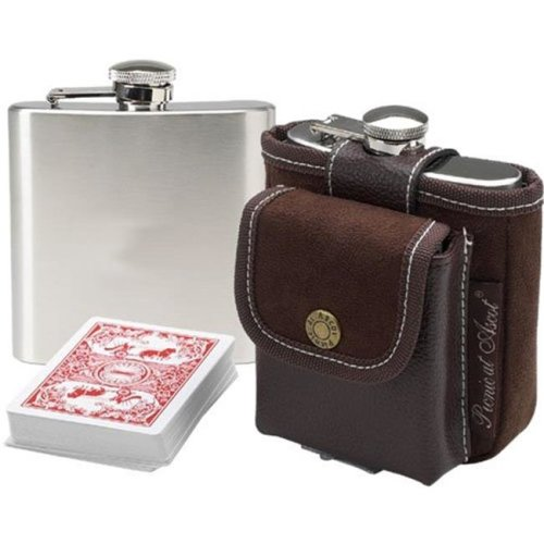 Picnic at Ascot 262-BR Hip Flask and Playing Cards
