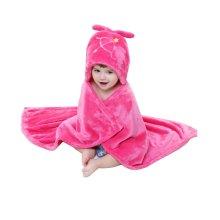 Baby flannel Blanket/ Infant Spring And Summer Quilt Deep Pink