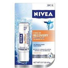 NIVEA A Kiss Of Recovery Medicated Lip Repair SPF 15 0.17 oz (Pack of 3)