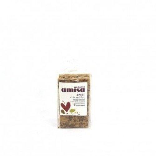 Amisa - Spelt Crispbread - Chia Seed & Flax Omega