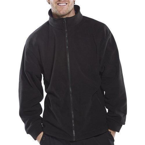 Click FLJBL3XL Fleece Jacket Black 3XL