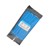 Zip Ties 100 Pcs Adjustable Durable Self locking Blue Nylon Zip Cable Ties