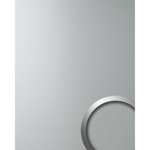 WallFace 10363 DECO SILVER Wall panel self-adhesive Metal silver grey 2.6 sqm