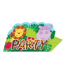 Jungle Friends Stand-up Invitations