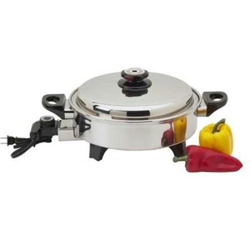 Precise Heat KTOILCORE Precise Heat 3-1/2qt Surgical Stainless Steel Oil Core Skillet