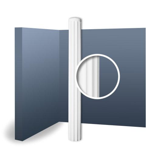 Orac Decor K1002 LUXXUS Full Column Shaft Stucco Decoration white | 2 m
