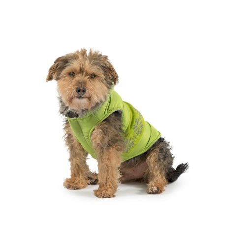 Muddy Paws Nordic Dog Coat Green Medium