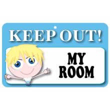 Keep Out Door Sign - My Room (Boys)