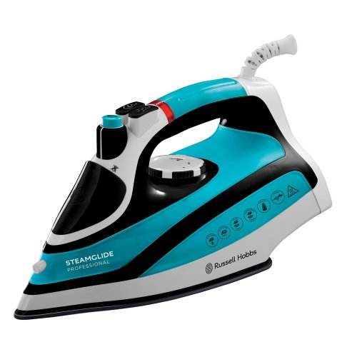 Russell Hobbs Steamglide Professional 2600 W Steam Iron 21370 - Blue and Black