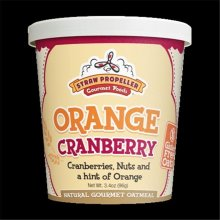 Straw Propeller Gourmet Foods 3.4 oz. Orange Cranberry Hot Oatmeal, Case Pack 12