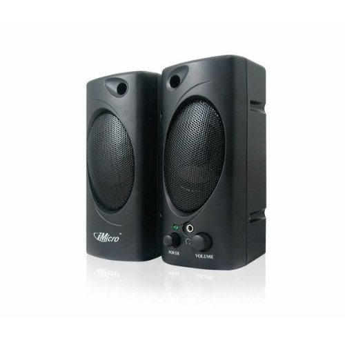 iMicro 2 0 Channel Plastic Mtimedia Speaker System Black SP IMD693