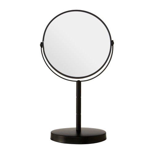 Black Metal Swivel Table Mirror