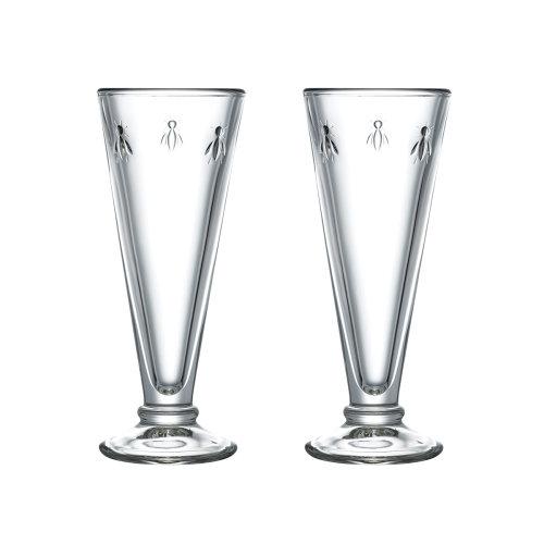 La Rochere Set of 2 Bee Champagne Flutes, 15cl