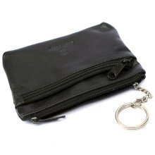 Mens Ladies REAL Leather Coin Purse Key Case Pouch