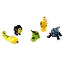 Set of 5 Zoo Animal Wind-up Toys