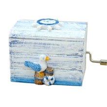 European Style Mini Hand Crank Music Box Gift Wooden Music Box
