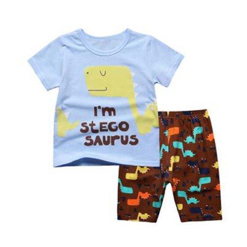 Boys Dinosaur Short Pajamas Toddler Kids Sleepwear Summer Pajamas