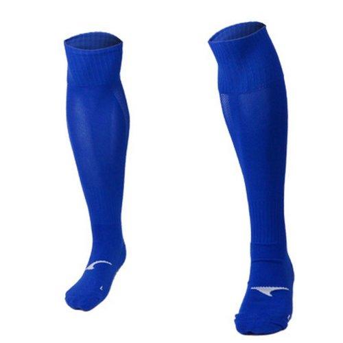 Long Thick Quick Dry Blue Knee Length Football Socks