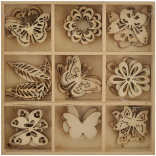 Lucky Dip Wooden Shapes 4 - Butterfly 1.25 in.