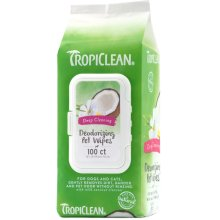 Tropiclean Deep Cleaning Wipes 100pc