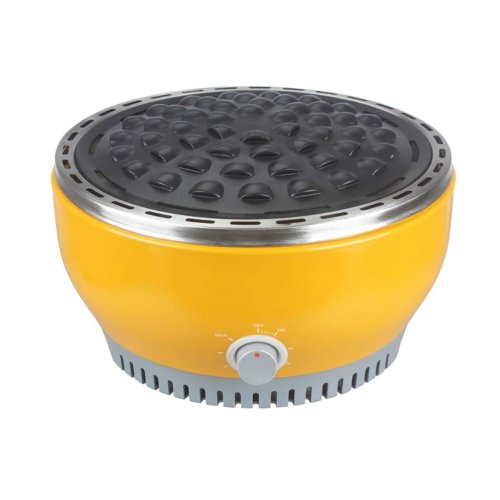 Qlima Barbecue BBQ Charcoal Table Grill Stove 29 cm Yellow In/Outdoor NJOY 1007