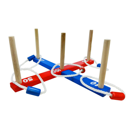Yellowstone Wooden Ring Toss Includes 5 Rings Traditional Quoits Garden Game