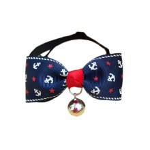 England Style Pet Collar Tie Adjustable Bowknot Cat Dog Collars with Bell-A05