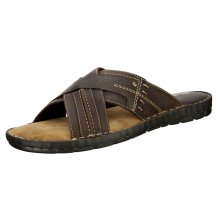 Red Tape Men's Lew Slip On Leather Sandals Brown