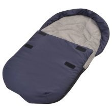 vidaXL Footmuff/Bunting Bag for Baby Carrier/Car Seat 75x40 cm Navy