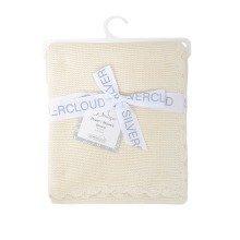 East Coast Baby Garter Stitch Blanket Baby Cream
