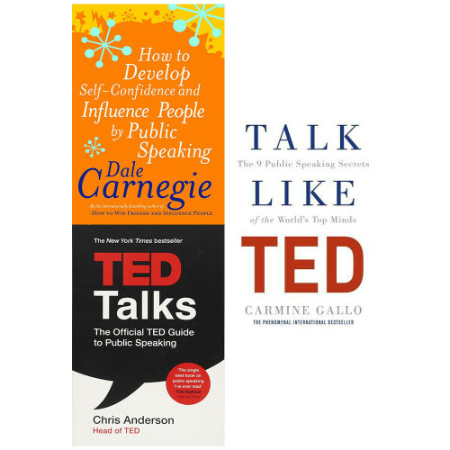 TED Talks,Talk Like TED,How to Develop Self 3 Books Collection Set
