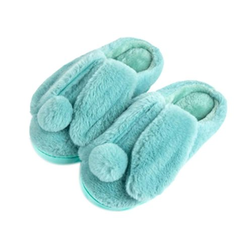 Women Plush Slippers Winter Cartoon Indoor Slippers Household Slippers GREEN