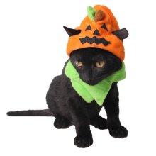 Halloween Pumpkin Hat For Pet Cats