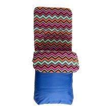 Fleece Lined Cosytoes Blue Aztec