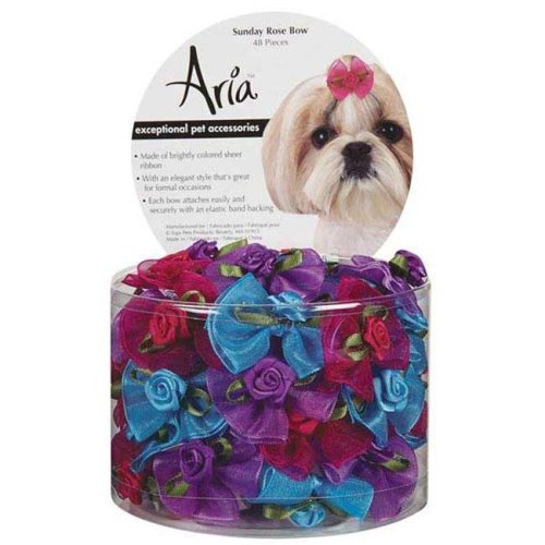 Aria DT1108 48 Aria Sunday Rose Bow Canister 48 pcs