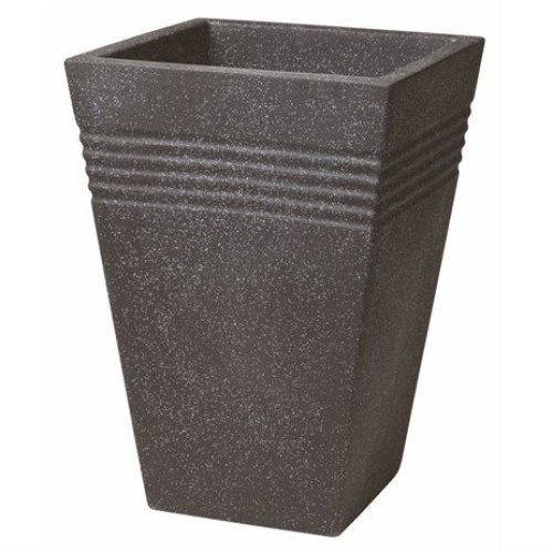 Stewart Garden Square Piazza Tall Planter - 35cm - Granite (5043139)