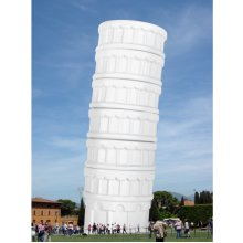 Ceramic Leaning Tower Of Pisa Cups -  ceramic leaning tower pisa cups thumbs set dips party novelty
